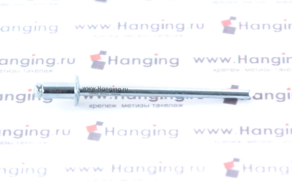 Вытяжная заклепка 3,2х6 сталь сталь Bralo