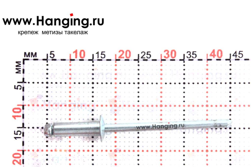 Размеры вытяжной заклепки 3,2х10 St/St Брало (Испания)