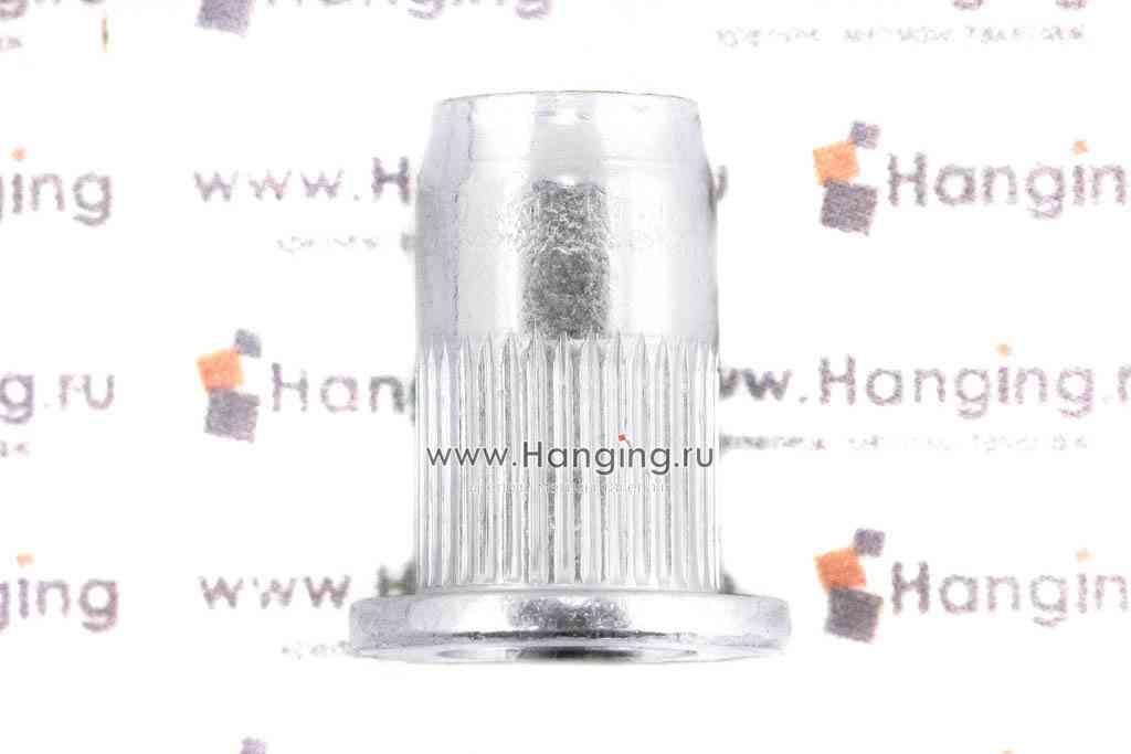 Резьбовые заклепки М6х14,5 цилиндрические рифленые с выпускным бортиком из стали Брало (Испания)