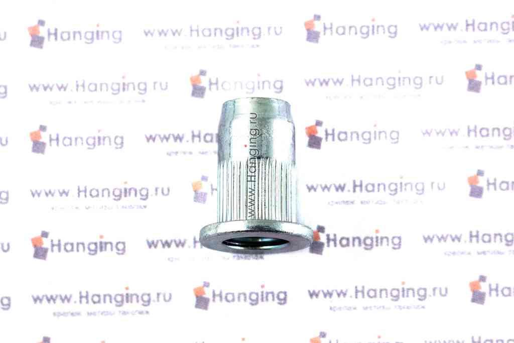 Резьбовые заклепки М6х16,5 цилиндрические рифленые с выпускным бортиком из стали Брало (Испания)