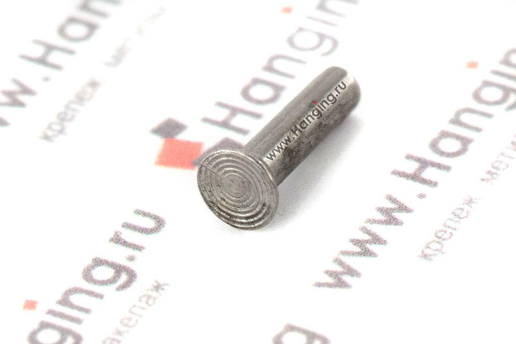 Забивная заклепка 2,5х10 с потайной головкой из стали