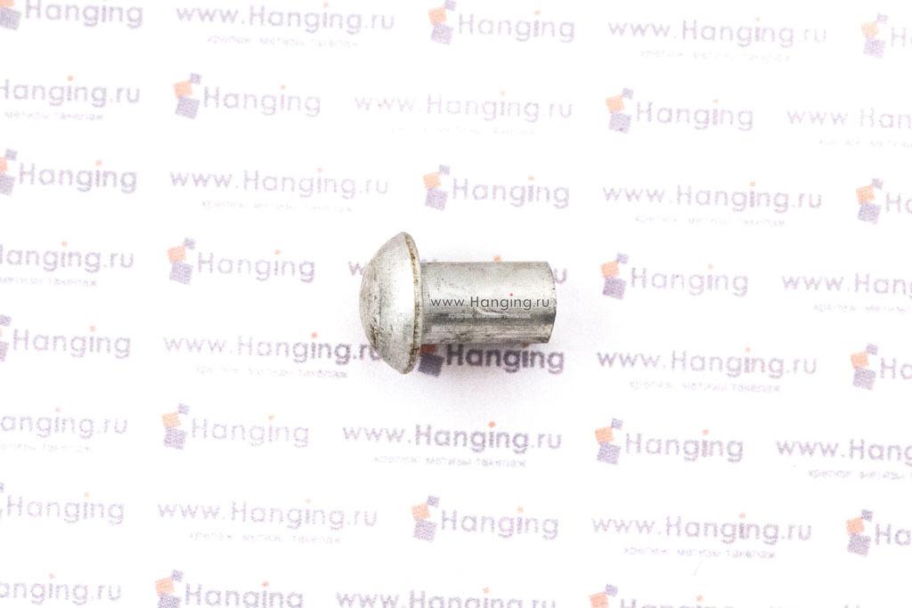 Заклепки под молоток 6х10 мм с полукруглой головкой из алюминия