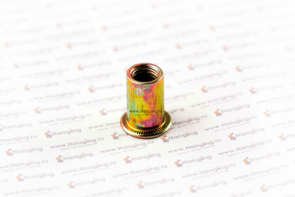 Резьбовые заклепки цилиндрической формы с выпускным фланцем
