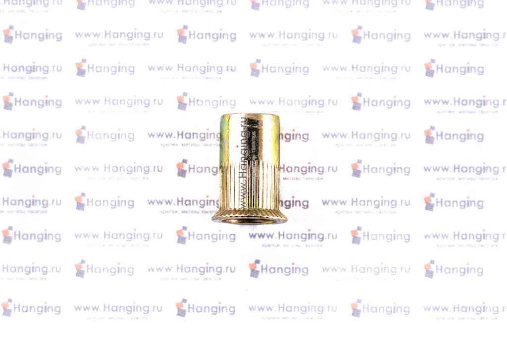 Резьбовые заклепки цилиндрической формы с рифлением М8х19 с потайным фланцем из стали