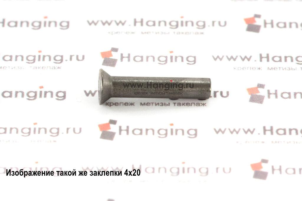 Заклепка стальная под молоток 4х48 с потайной головкой