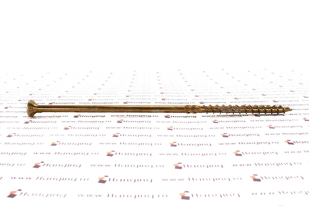 Саморез для плотных сортов дерева 8х220, желтый цинк, Torx