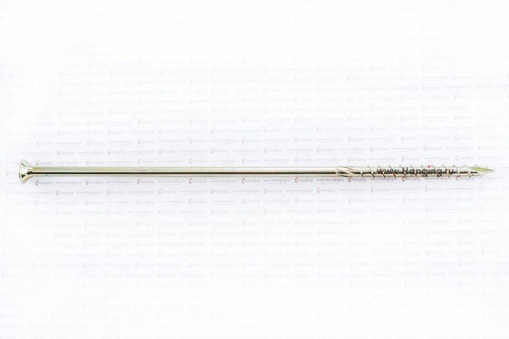 Саморез для плотных сортов дерева 8х280, желтый цинк, Torx