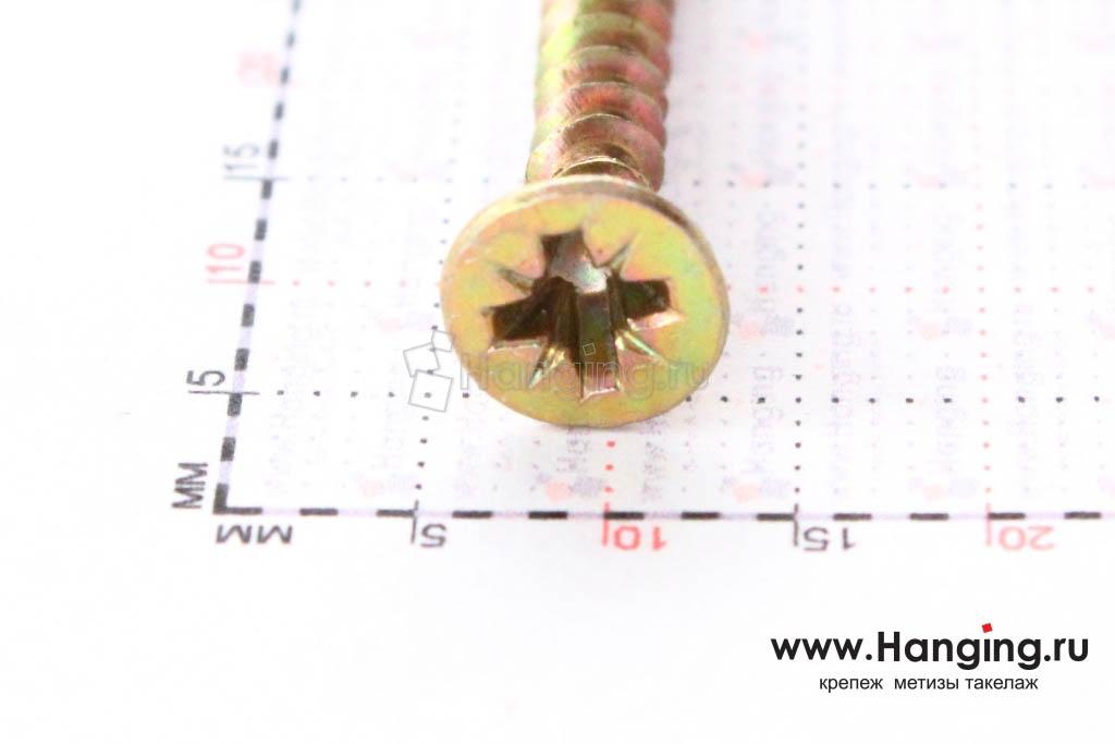 Саморез для плотной древесины 4*40 по дереву, размер головки