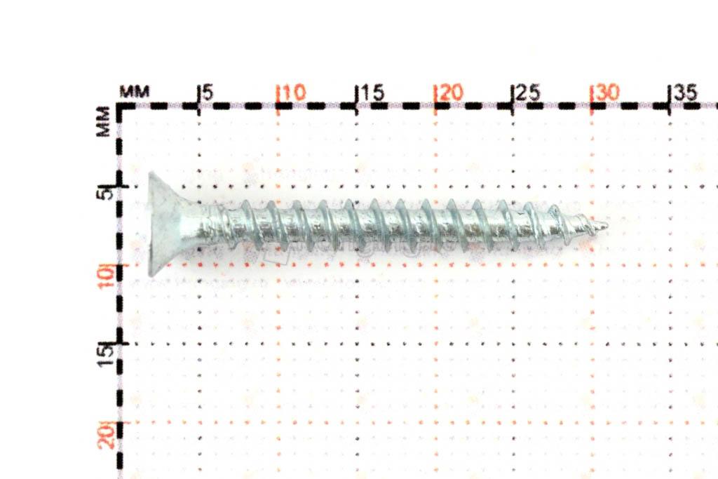 Размеры универсального белого самореза 3,5х30