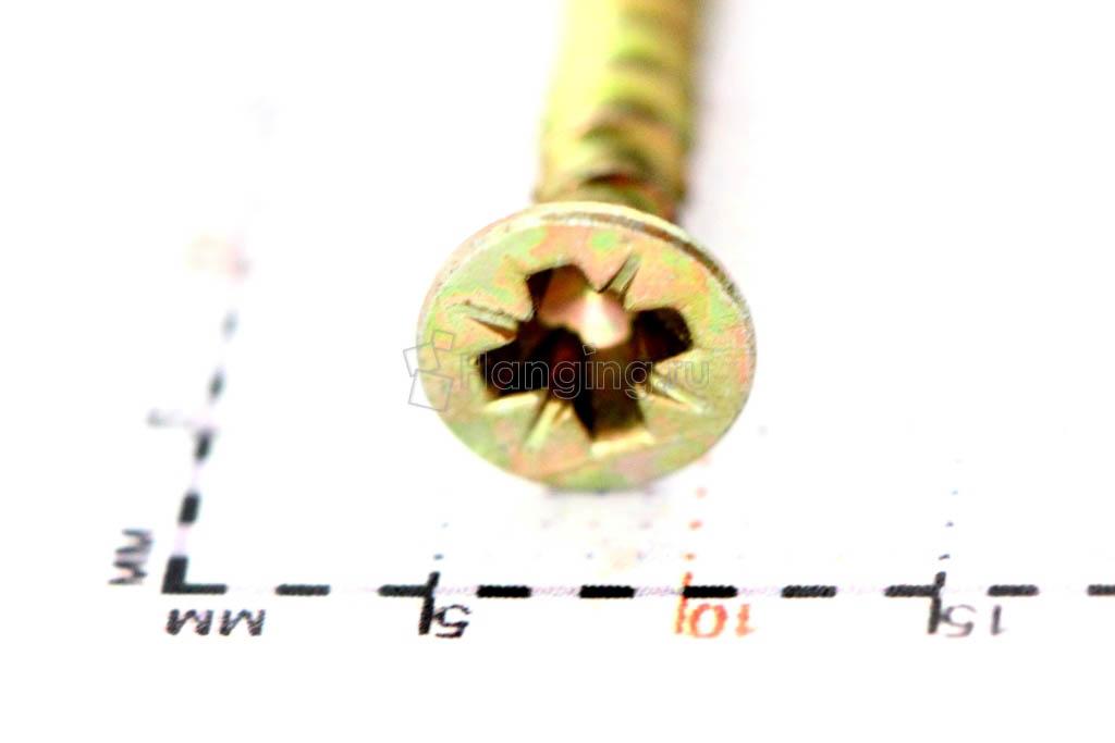Желтый саморез 3,5х30, размер головки