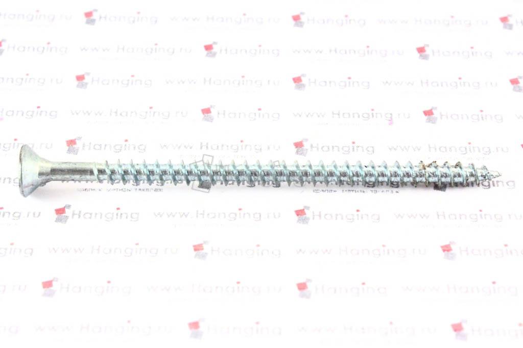 Саморез с потайной головкой белый цинк 4х70