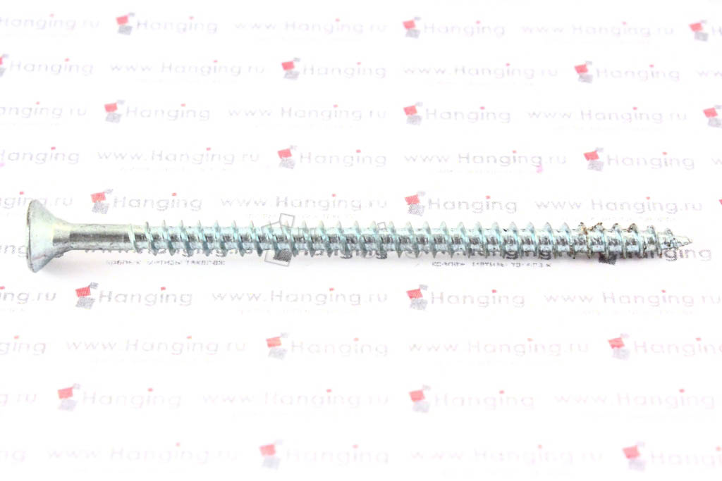 Саморез универсальный белый цинк 4х70
