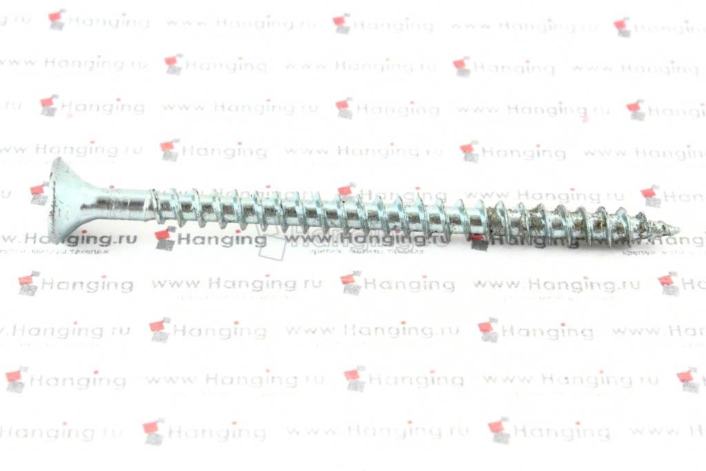 Саморез с потайной головкой белый цинк 5х70