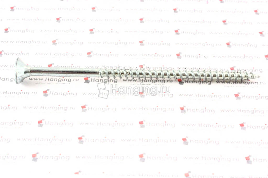 Саморез с потайной головкой белый цинк 5х90