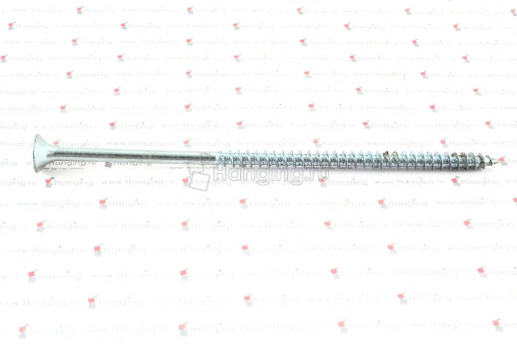 Саморез с потайной головкой белый цинк 5х120