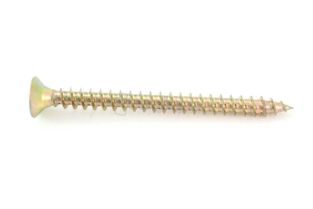 Размеры самореза жёлтый цинк 6х70