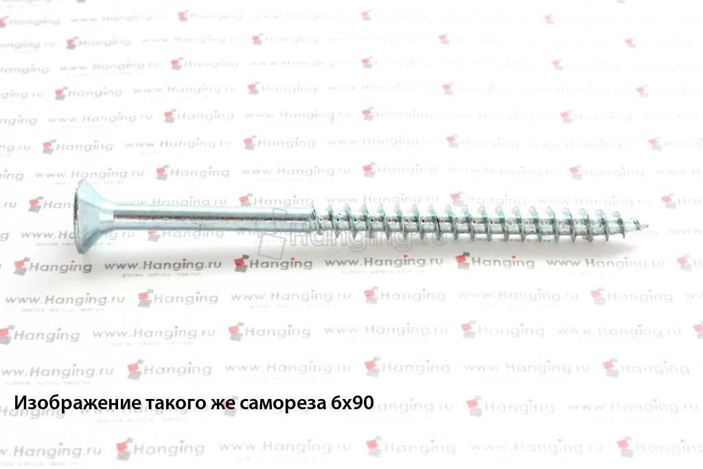 Саморез универсальный белый цинк 6х110