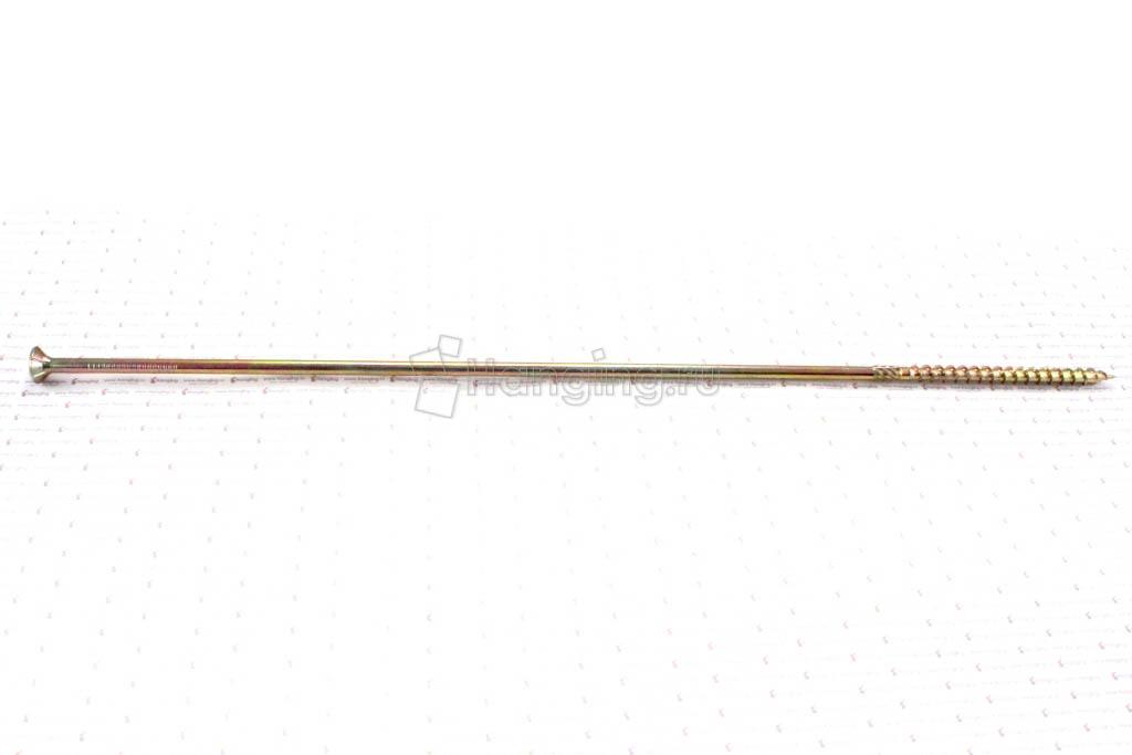 Саморез для плотных сортов дерева 8х450, желтый цинк, Torx