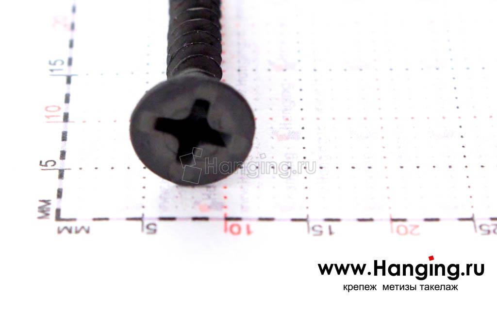 Размер головки самореза потай по дереву 3,5х25 частая резьба