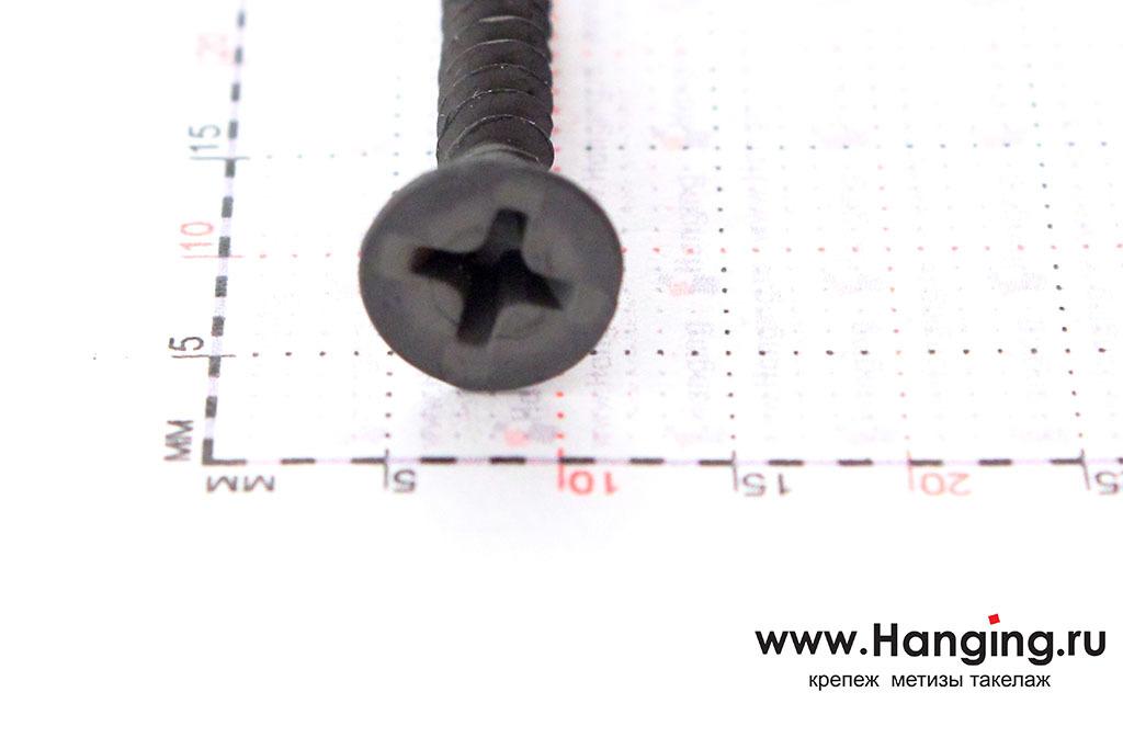 Головка самореза черного по металлу 3,5х25 с мелкой резьбой