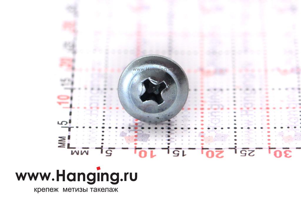 Головка самореза с пресс-шайбой 4,2*13 по металлу