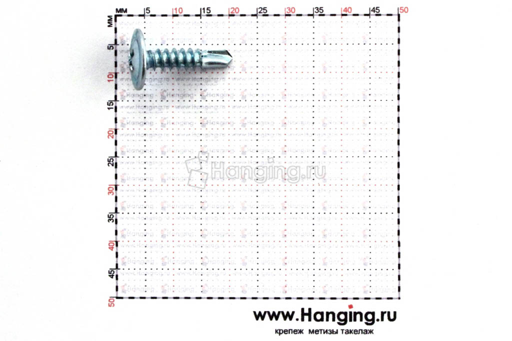 Размеры самореза c прессшайбой со сверлом 4,2х16 по металлу