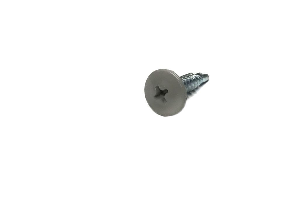 Саморез серый RAL 7004 с прессшайбой со сверлом по металлу 4,2х19