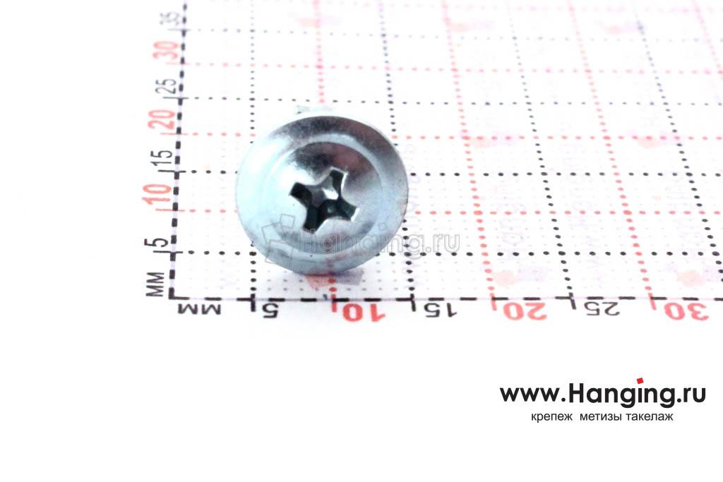 Головка самореза с прессшайбой со сверлом 4,2*19 по металлу