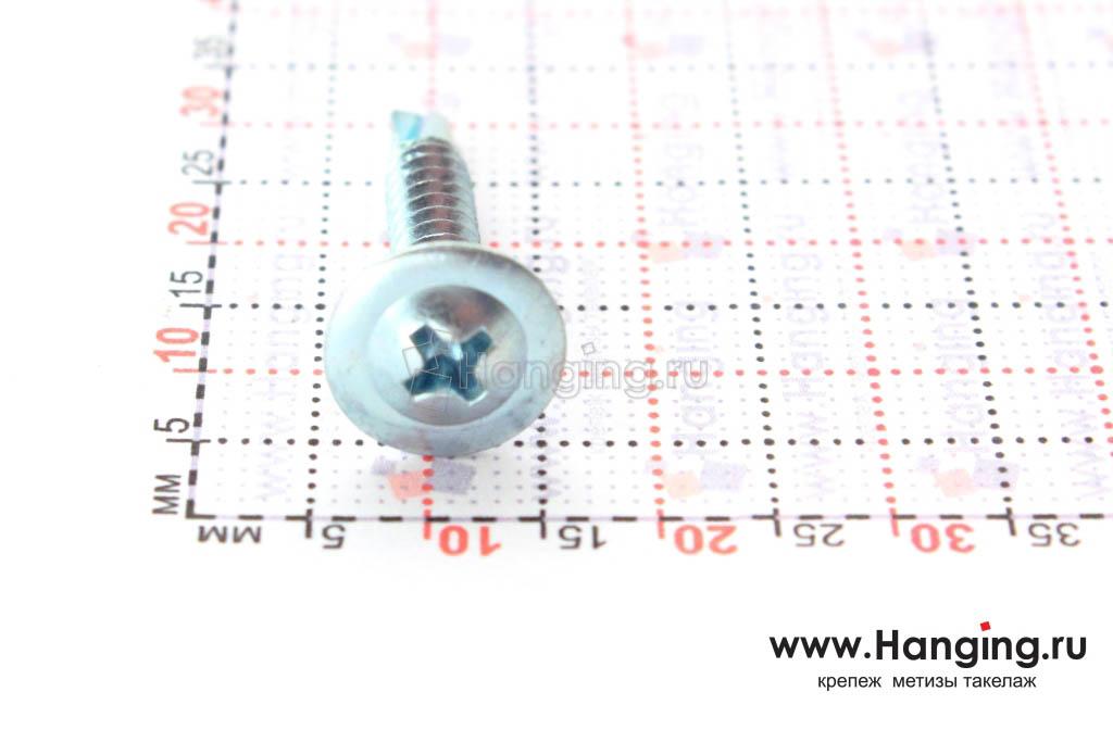 Головка самореза c прессшайбой со сверлом 4,2*25 по металлу