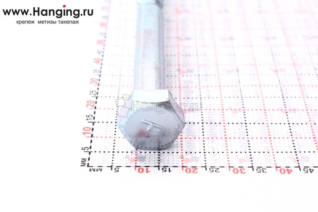 Оцинкованный саморез с шестигранной головкой 8*150, размер головки