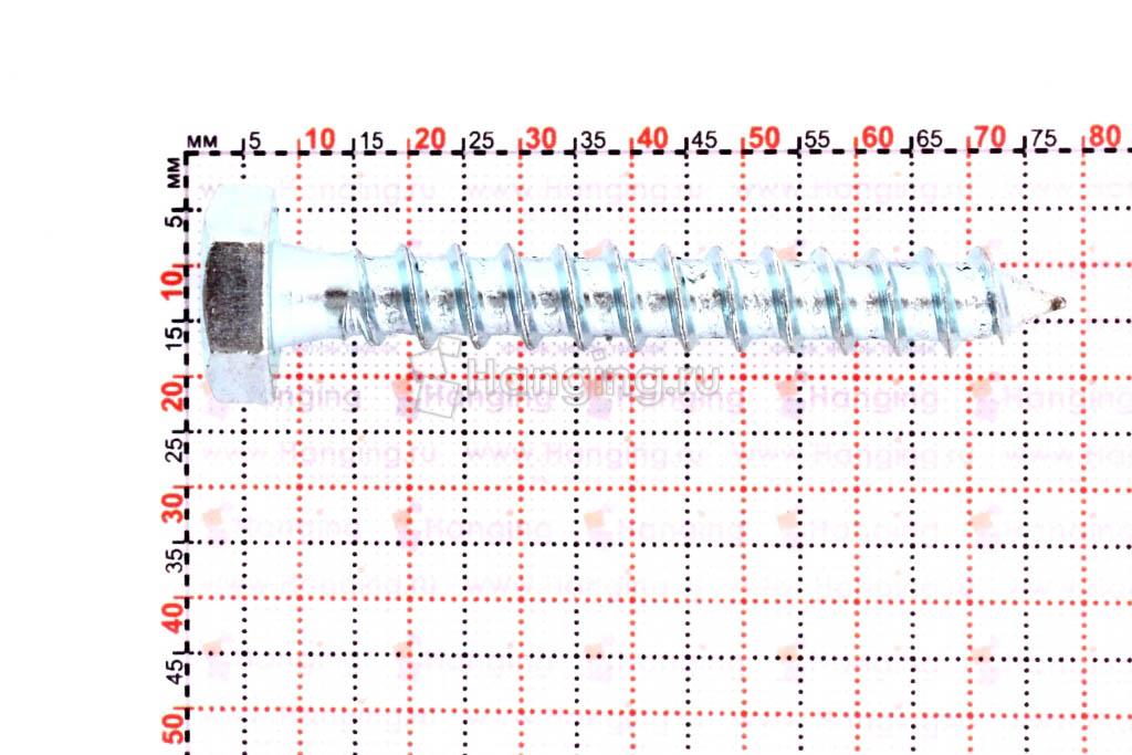 Размеры шестигранного самореза 10х70
