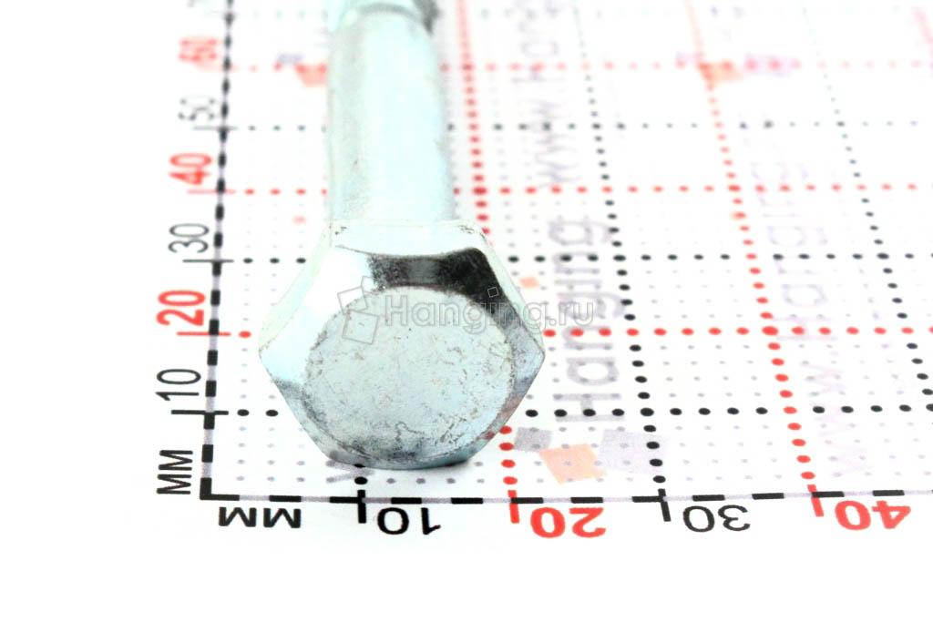 Оцинкованный саморез с шестигранной головкой 10*130, размер головки