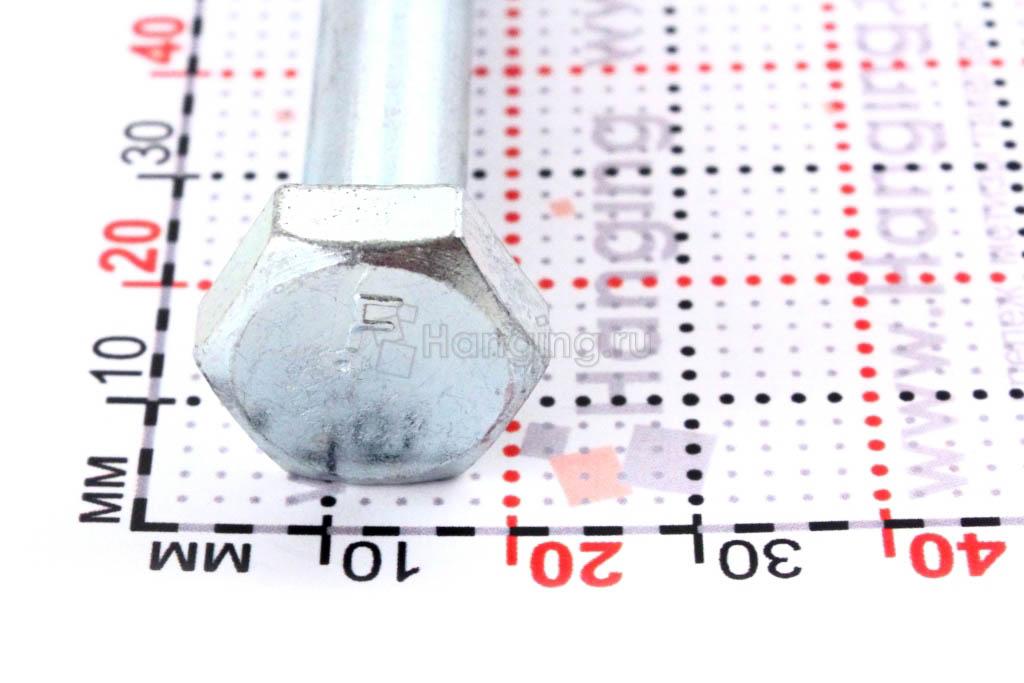 Оцинкованный саморез с шестигранной головкой 10*160, размер головки
