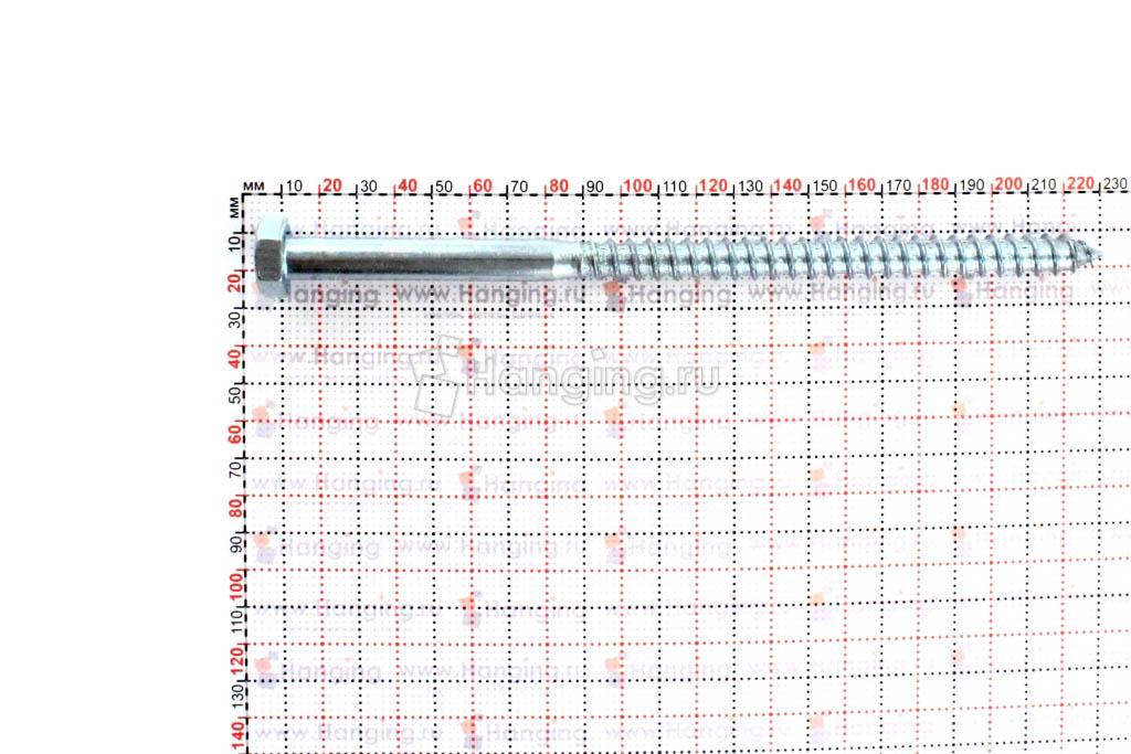 Размеры шестигранного самореза 12х220