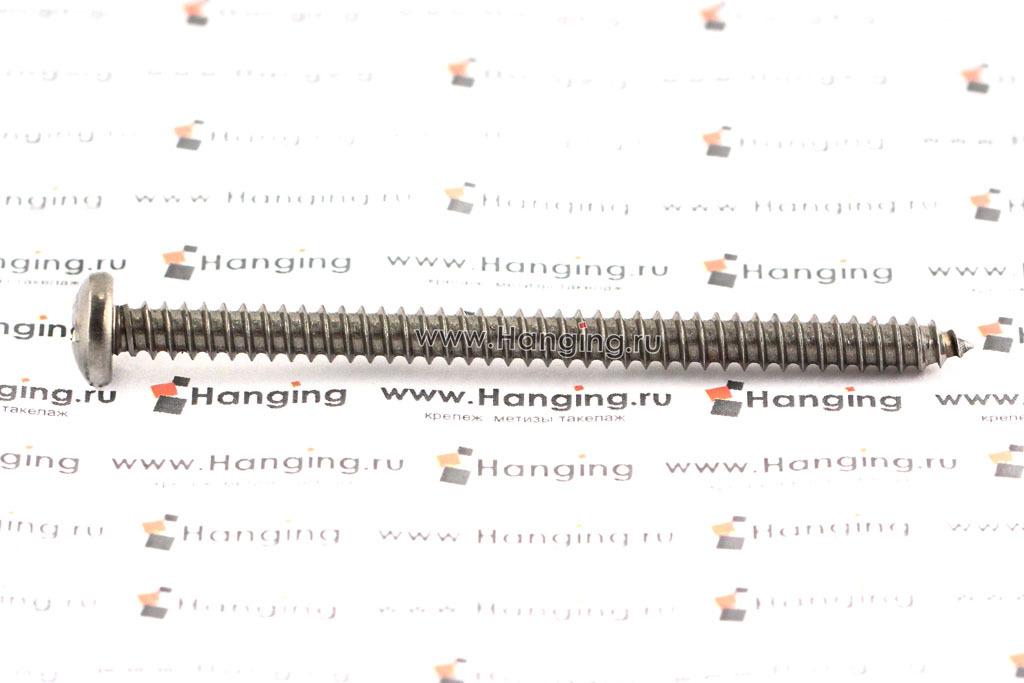 Саморез 5,5х80 с полукруглой головкой из нержавеющей стали А2 DIN 7981