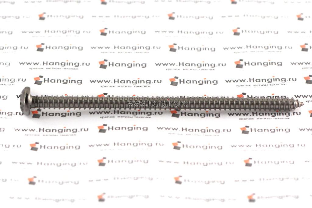 Саморез 5,5х100 с полукруглой головкой из нержавеющей стали А2 DIN 7981