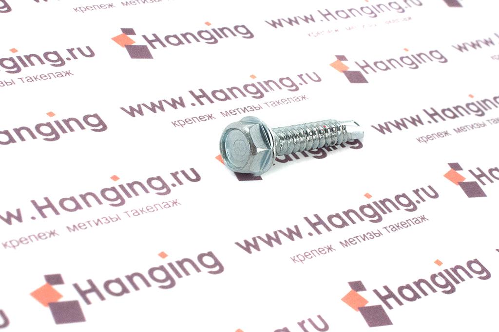 Шуруп 4,2х25 DIN 7504 K с шестигранной головкой с пресс-шайбой