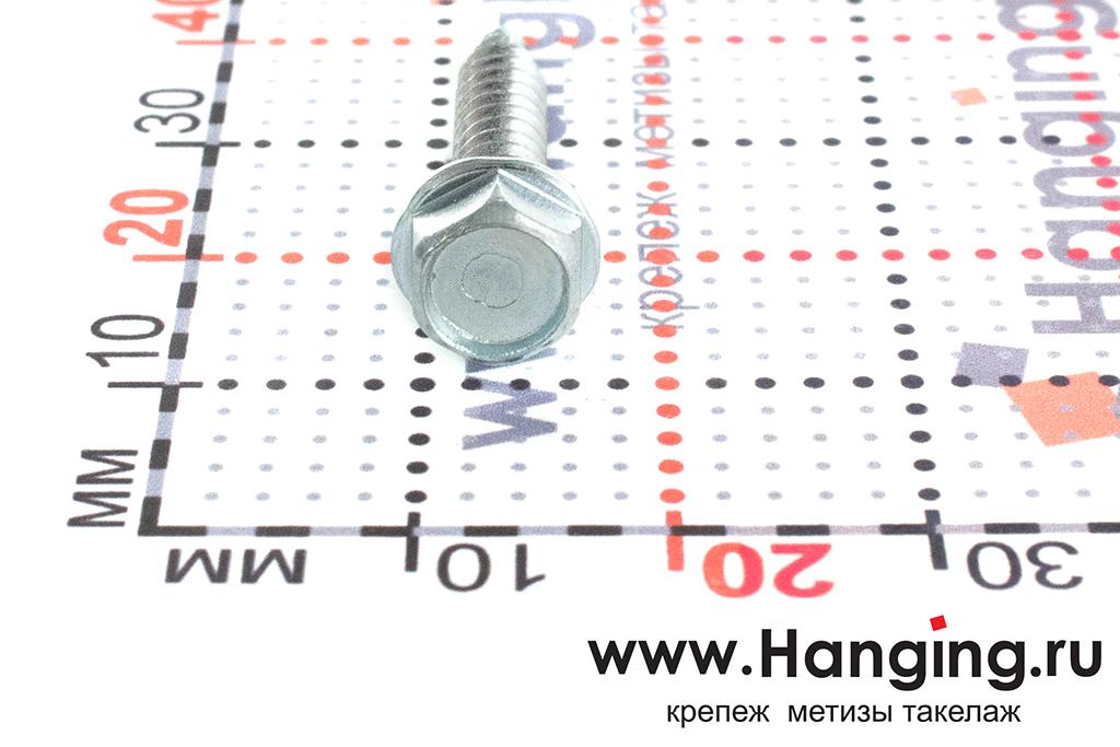 Размер головки шурупа с шестигранной головкой с пресс-шайбой DIN 7504 K 4,2*25 мм