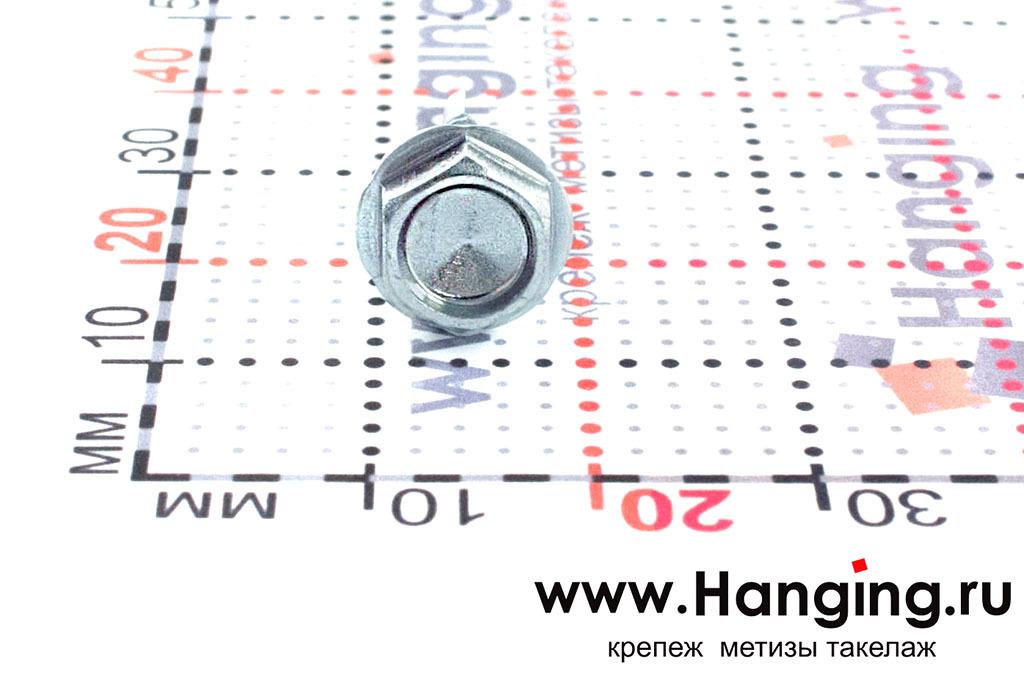 Полукруглая головка самореза с буром 4.8*19, размер головки