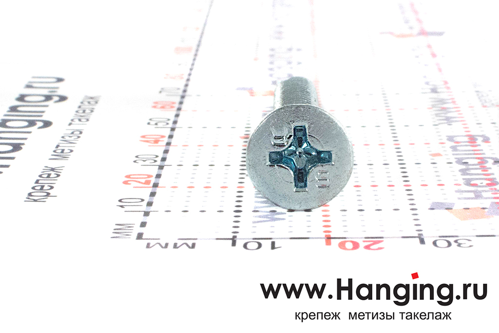 Головка самореза с потайной головкой и буром 6.3*60, размер головки