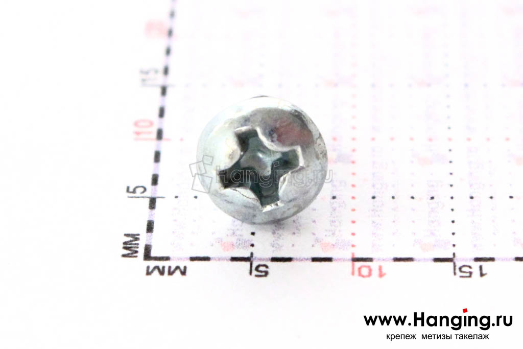Полукруглая головка самореза DIN 7981 C-H, ISO 7049 3.5*6.5, размер головки