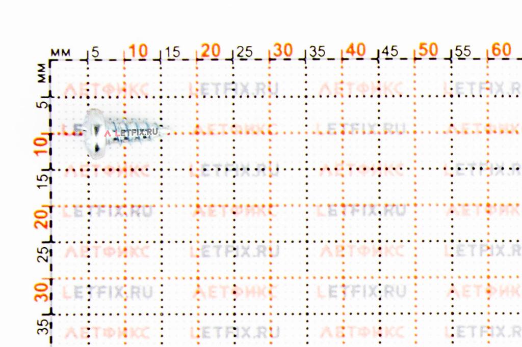 Вид самореза полусфера цинк ###2х###3 ISO 7049, DIN 7981