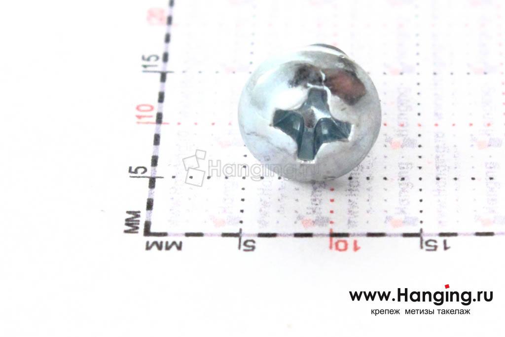 Полукруглая головка самореза DIN 7981 C-H, ISO 7049 4.2*9.5, размер головки
