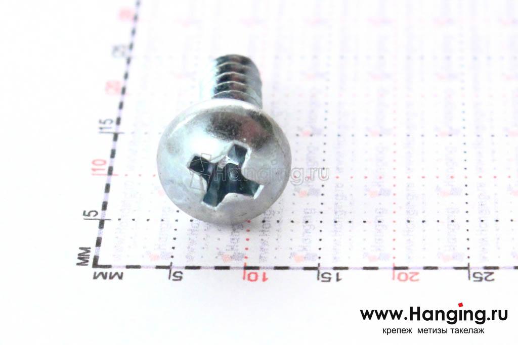 Полукруглая головка самореза DIN 7981 C-H, ISO 7049 4.8*16, размер головки