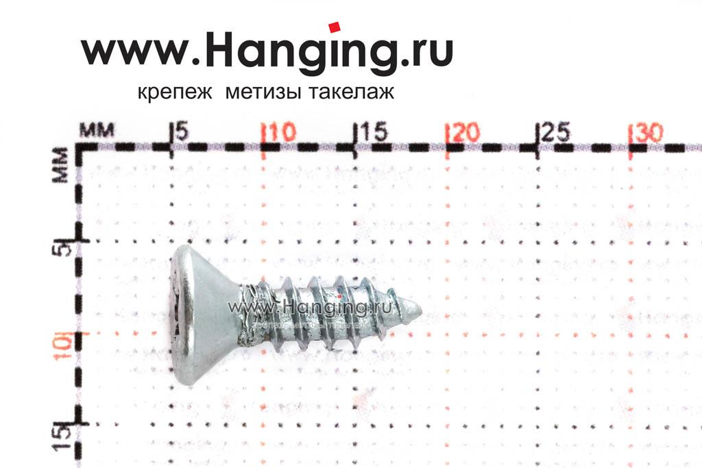 Размеры оцинкованного шурупа 4,2х13 DIN 7982 C-H