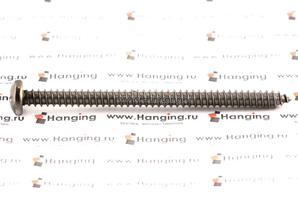 Саморез 5,5х80 с полукруглой головкой и крестовым шлицем PH из нержавеющей стали А4 DIN 7981