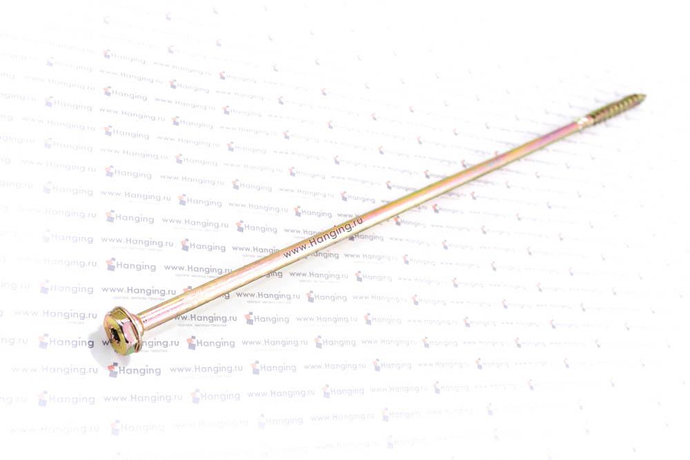 Саморез для дерева 10х400, шестигранная головка, желтый цинк, Torx