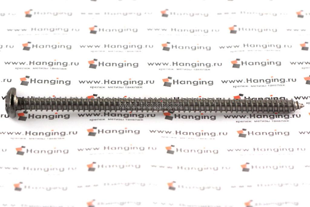 Саморез 5,5х100 с полукруглой головкой и крестовым шлицем PH из нержавеющей стали А4 DIN 7981