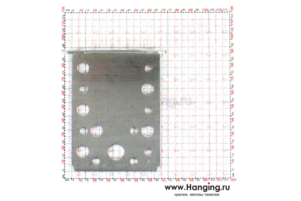 Размеры отверстий монтажного уголка 90х90х65х2