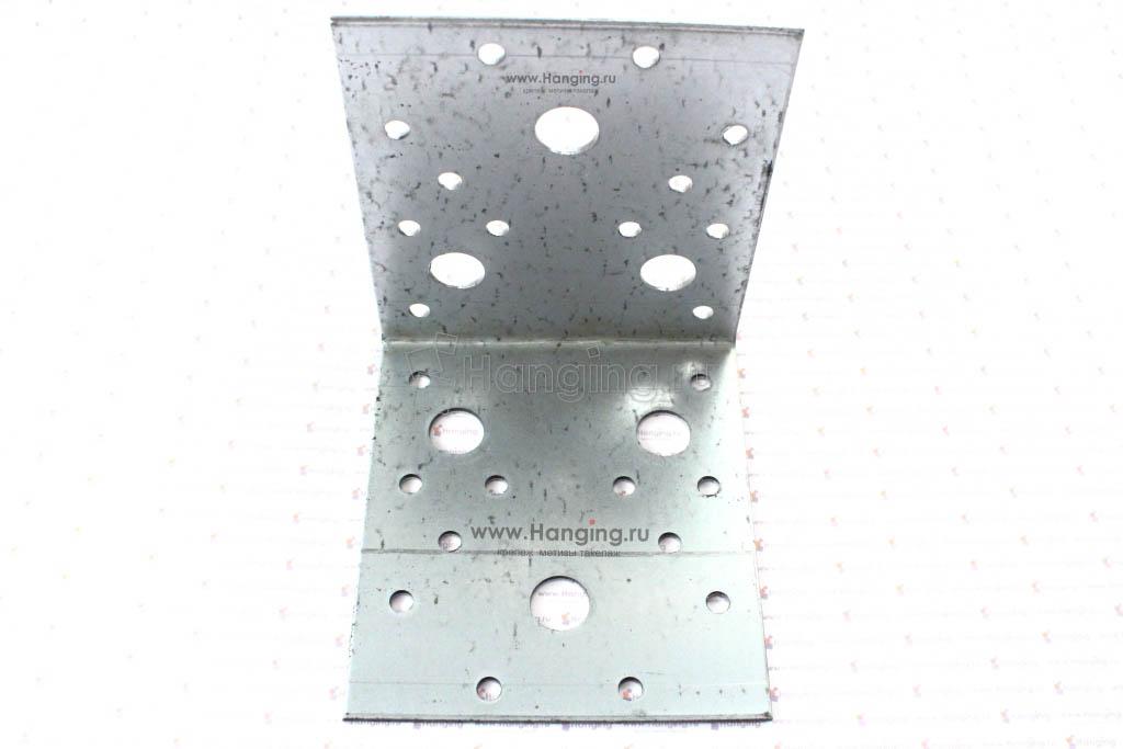 Уголок стальной с отверстиями 105х105х90х2